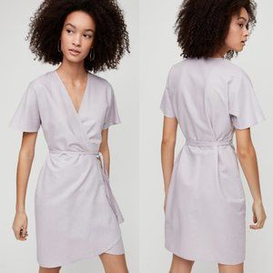 Aritzia Babaton Wallace Linen Blend Dress
